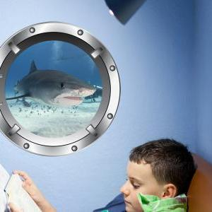 Great White Shark - Porthole Vinyl ..