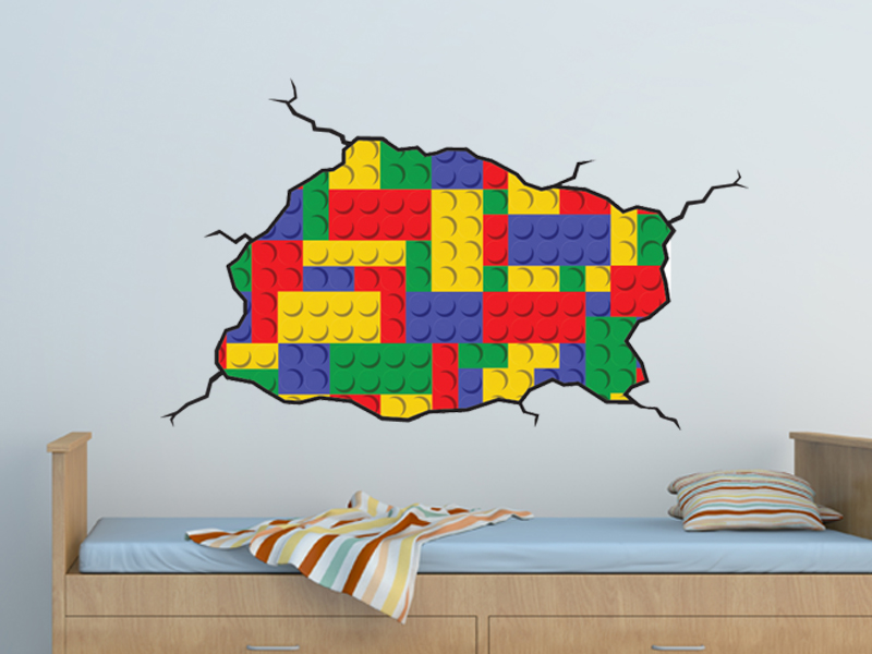 Attirant Lego Style Wall Decal