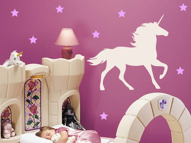 Unicorn And Stars Wall Decal On Luulla