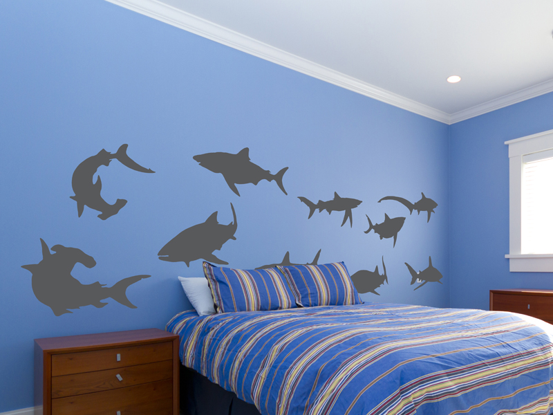 Sharks Vinyl Wall Decal Set Part 11