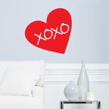 "Heart (love) Hugs and Kisses Vinyl Wall Decal 23""x23"""